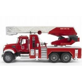 Пожарная машина Bruder MACK с выдвижной лестницей и помпой
