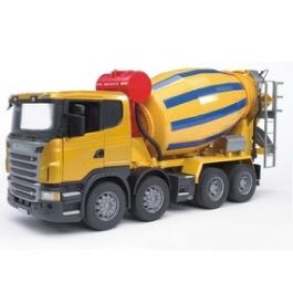 Бетономешалка Bruder Scania (цвет жёлто синий)