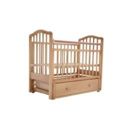 Детская кроватка Лаура -1 (поперечный маятник) с ящиком
