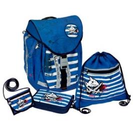 Школьный ранец Spiegelburg Capt'n Sharky Flex Style с наполнением