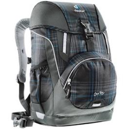 Школьный рюкзак Deuter 3830015-7309/SET2 Серо-синяя клетка с наполнением 4 предмета