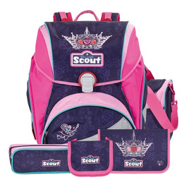 Школьный ранец Scout Alpha Exklusiv Корона с наполнением 5 предметов 745005-571