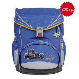 Школьный ранец DerDieDas 000405-042 Колеса/Гонки Switch ErgoFlex с наполнением