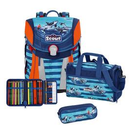 Школьный ранец Scout Sunny Морская прогулка с наполнением 4 предмета 734108-509