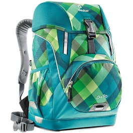 Школьный рюкзак Deuter OneTwo Сине-зеленая клетка 3830015-3216