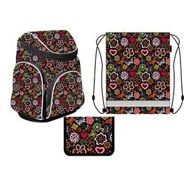 Школьный рюкзак MagTaller Boxi Flowers с наполнением
