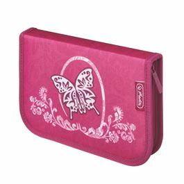 Пенал Herlitz Rose Butterfly с наполнением 31 предмет