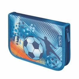Пенал Herlitz Soccer с наполнением 31 предмет