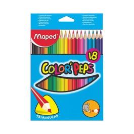 Карандаши Maped цветные Color Peps, трехгранные, 18 цветов