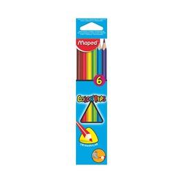 Карандаши Maped цветные Color Peps, трехгранные, 6 цветов
