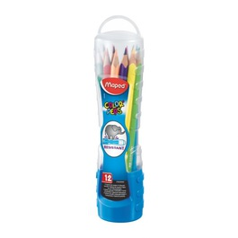 Карандаши Maped цветные Color Peps, трехгранные, 12 цветов, пластиковый кейс