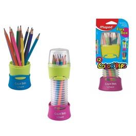 Карандаши Maped цветные Flex Box, трехгранные, 12 цветов, пластиковый кейс