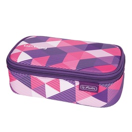 Пенал-косметичка Herlitz Be.Bag BEAT BOX Purple Checked