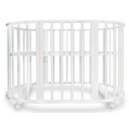 Детская кроватка Valle Patrisia 5 в 1 трансформер овальная