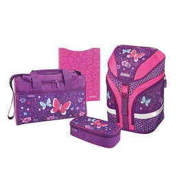 Школьный ранец Herlitz MOTION PLUS Purple Butterfly с наполнением