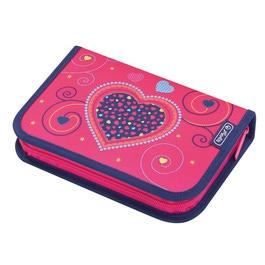 Пенал Herlitz Pink Hearts с наполнением 31 предмет 50014347