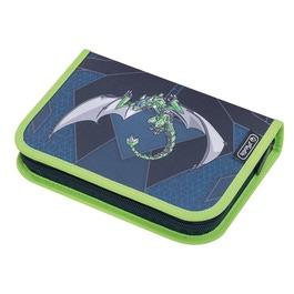 Пенал Herlitz Green Robo Dragon с наполнением 31 предмет 50014361