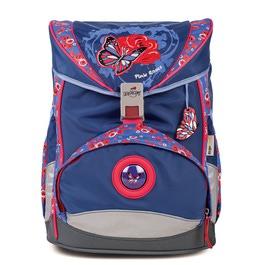Школьный ранец DerDieDas 8405054 Роза с бабочкой ErgoFlex LED со светодиодами с наполнением