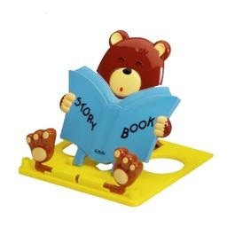 Подставка для книг Herlitz Медведь, синяя