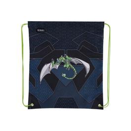 Мешок для сменной обуви Herlitz Green Robo Dragon