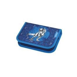 Пенал Herlitz Plus Blue Dino с наполнением 19 предметов