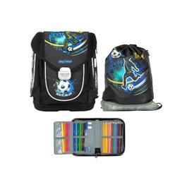Школьный ранец MagTaller Ezzy III Football с наполнением 21717-20
