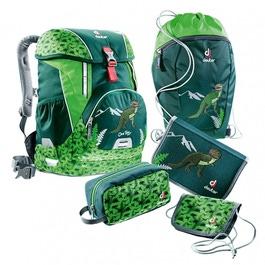 Школьный рюкзак Deuter OneTwo Лесной динозавр с наполнением 5 предметов 3880017-2018/SET3