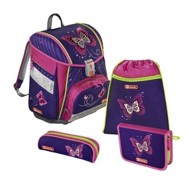 Школьный ранец Hama Step by Step Touch 2 Shiny Butterfly с наполнением 138930