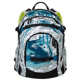 Школьный рюкзак iKon Бирюзово-голубой 000200-11