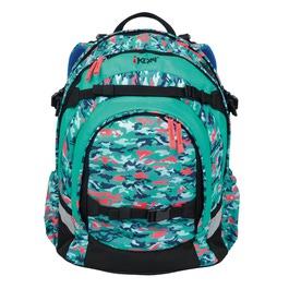 Школьный рюкзак iKon Бирюзовый камуфляж 000200-16