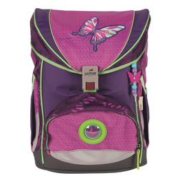 Школьный ранец DerDieDas 8405076 Розовая бабочка ErgoFlex с наполнением