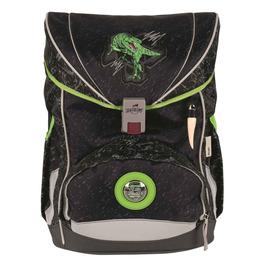 Школьный ранец DerDieDas 8405093 Зеленый динозавр ErgoFlex с наполнением