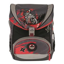 Школьный ранец DerDieDas 8405091 Ниндзя-байкер ErgoFlex с наполнением