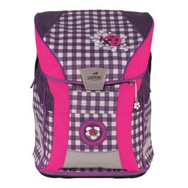 Школьный ранец DerDieDas ErgoFlex Vario Фиолетовая клетка с наполнением 8407096