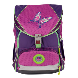 Школьный ранец DerDieDas 8406076 Бабочка ErgoFlex XL с наполнением