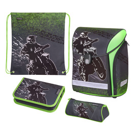 Школьный ранец Herlitz MIDI NEW PLUS Motorcross с наполнением 50020423