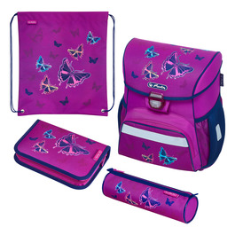 Школьный ранец Herlitz LOOP PLUS Glitter Butterfly с наполнением 50020485