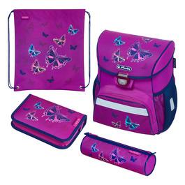 Школьный ранец Herlitz LOOP PLUS Glitter Butterfly с наполнением 50020485