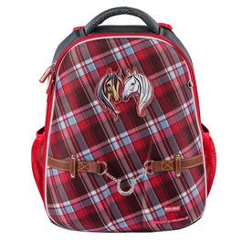 Школьный рюкзак Mike&Mar Лошадки т.серый/красный 1008-152