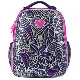 Школьный рюкзак Mike&Mar Цветы фиолетовый 1008-168