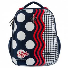 Школьный рюкзак Mike&Mar Стиль т.синий/красный 1008-169