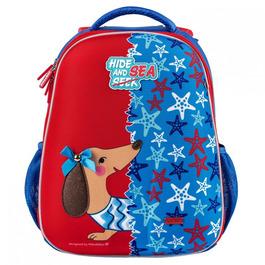 Школьный рюкзак Mike&Mar Такса т.синий/красный 1008-172
