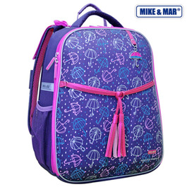Школьный рюкзак Mike&Mar Зонтики фиолетовый 1008-95