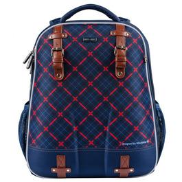 Школьный рюкзак Mike&Mar Клетка синий/красный 1008-161