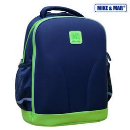 Школьный рюкзак Mike&Mar Синий/зеленый кант 1010-1