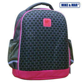 Школьный рюкзак Mike&Mar Т.серый/малиновый кант 1010-5