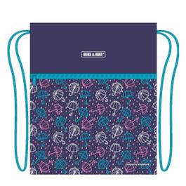 Мешок для сменной обуви Mike&Mar Зонтики, фиолет MB160