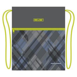 Мешок для сменной обуви Mike&Mar Музыка т.сер/зеленый кант MB188