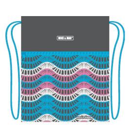 Мешок для сменной обуви Mike&Mar Узор, сер/бирюза MB164