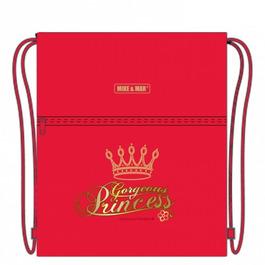 Мешок для сменной обуви Mike&Mar Принцесса, красный M023